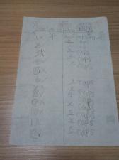 YH's check sheet