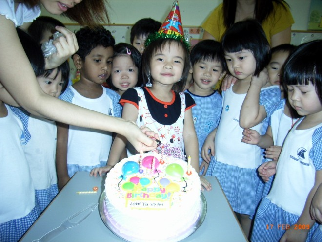 XX 4 yr old birthday in childcare