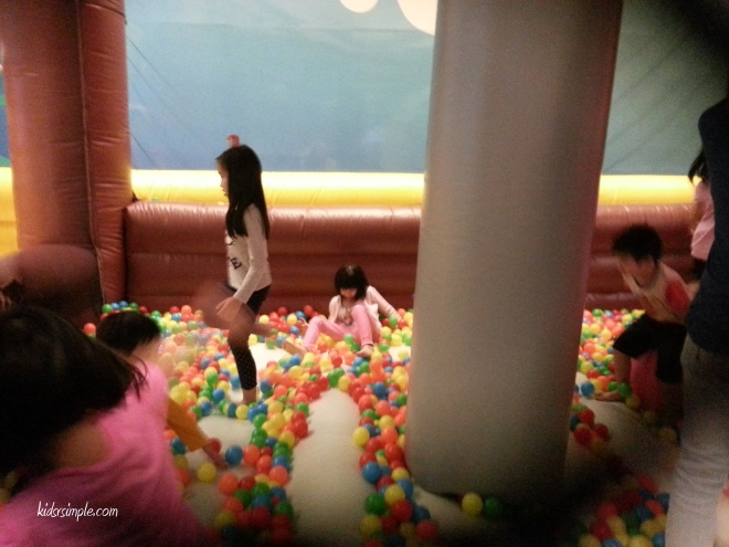 Smaller slide into ball pool for the younger kiddos