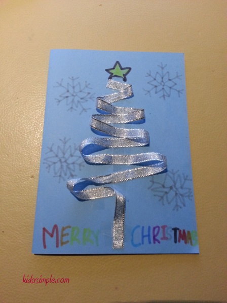 XX Christmas tree card