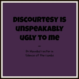 Discourtesy quote