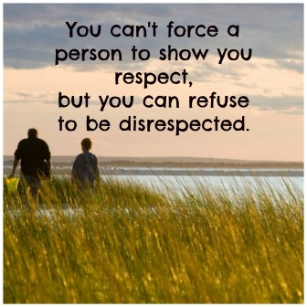 Disrespect quote