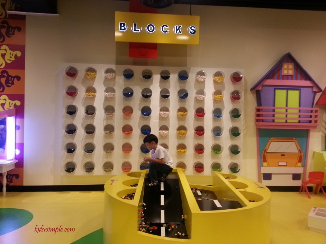 Lego bricks area