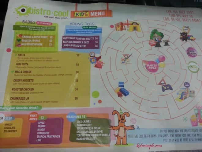 CDS menu