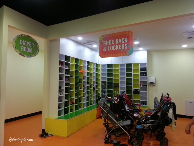 Shoe and Locker and Strollers
