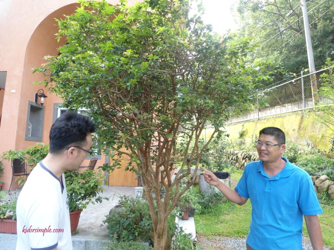 Mr Xie, the affable owner, introducing his gardens
