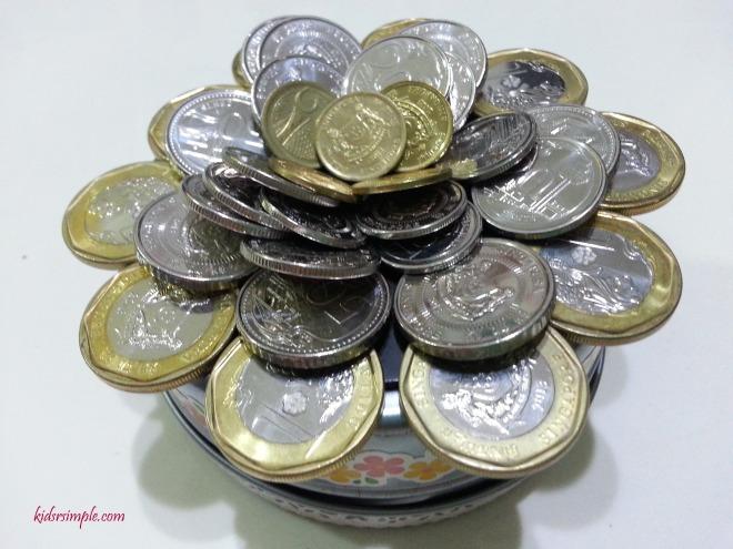 Flower coins