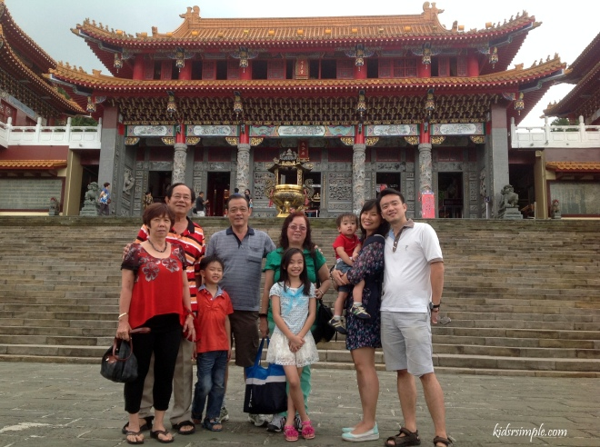 Our family outside Taiwan National Palace Museum