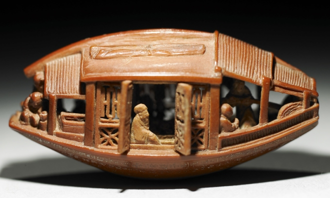 Unbelievable skills! The Carved Olive Stone Boat