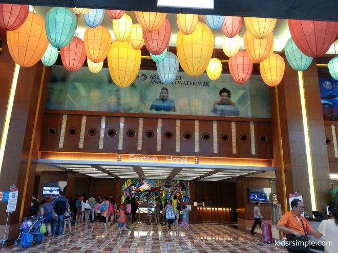 Festive Hotel entrance