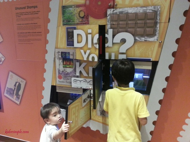 Interactive wall on knowing about stamps
