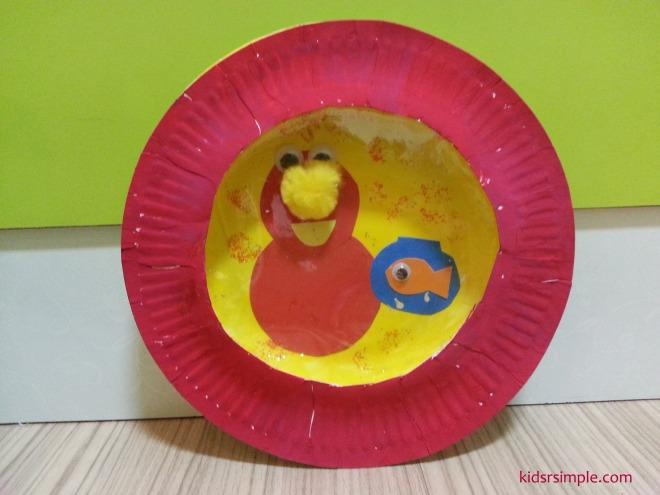 Elmo paper plate art