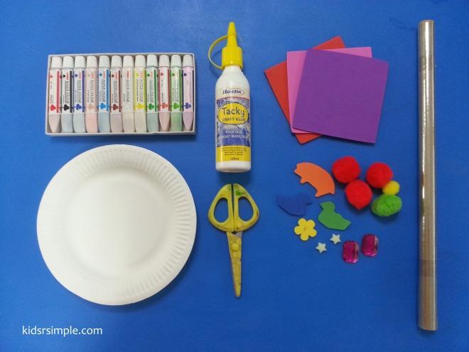 Paper plate art materials
