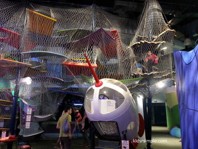 This is similar to an indoor playground maze, but you will get to a magical room at the top of the maze!