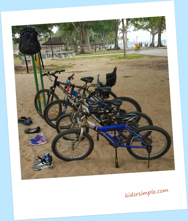 Cycling at Changi Beach