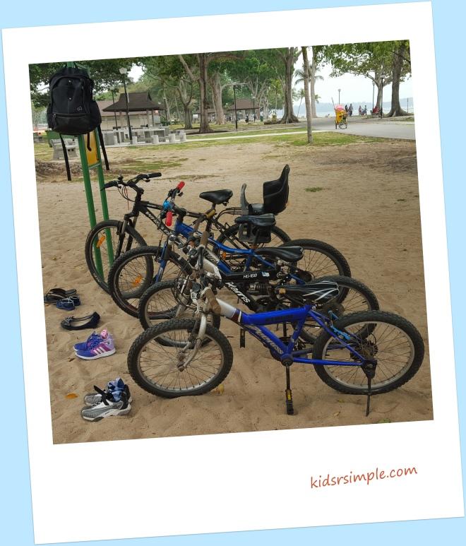 Cycling at Changi Beach