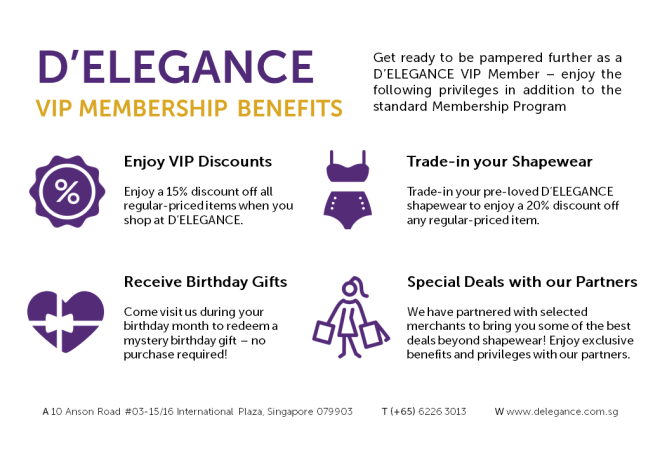 VIP Membership Benefits - D'Elegance