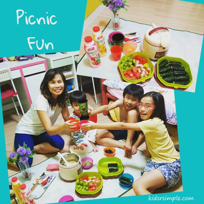 Picnic in bedroom